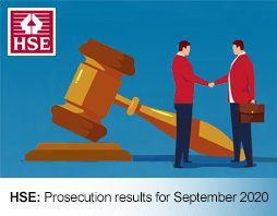 HSE Prosecution results for September 2020 FI 2